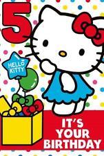 Hello Kitty Age 5 Today 5th Birthday Card