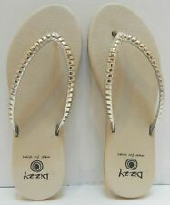 Dizzy Ripples Comfort Flip Flop Extra Cushioned Women's Beige Size 8
