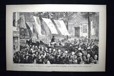 Egitto,Cairo:vicerè Tewfik,generale Wolseley,console Malet Incisione del 1882