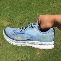Saucony Womens Kinvara 9 Blue/Teal Running Shoes Size 7.5 (1255230)