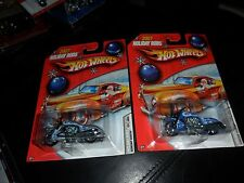 2  LOT HOT WHEELS SCORCHIN SCOOTER 2007 HOLIDAY RODS 4/6 SILVER & BLUE FLAMES