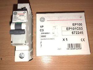 EP101C03 672245 GENERAL ELECTRIC Miniature circuit breaker EP100 1P 3A C
