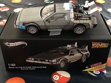 Hot Wheels 1:18 Back to the Future Time Machine With Mr. Fusion + Hoverboard