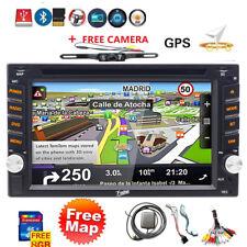 GPS Navigation Double Din InDash Car DVD Radio Stereo Player Bluetooth+camera