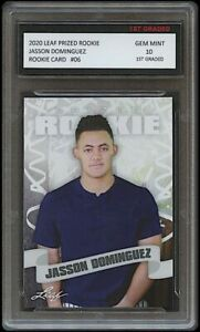 2020 JASSON DOMINGUEZ LEAF PRIZED 1ST GRADED 10 ROOKIE CARD NY NEW YORK YANKEES