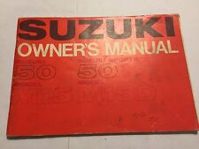 SUZUKI 50cc M15 & M15D SPORTS OWNERS MANUAL RIDERS HANDBOOK
