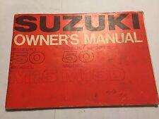 SUZUKI 50cc M15 & M15D SPORTS OWNERS MANUAL RIDERS HANDBOOK