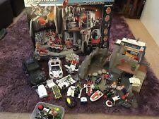 Playmobil Agente Secreto Espía sede base coches detector de metales paquete de laboratorio de robo