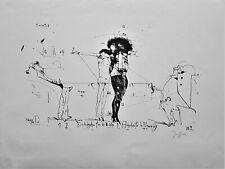 HORST JANSSEN : LITHOGRAPHIE - HANDSIGNIERT - 1964 - EROTIK - JO FLEMMING EROTIK
