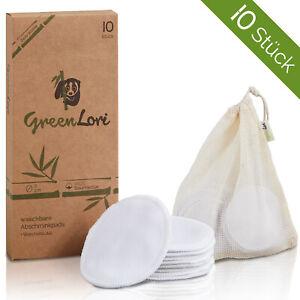 10 waschbare Abschminkpads – 100% Baumwolle – Wiederverwendbare Wattepads – Soft