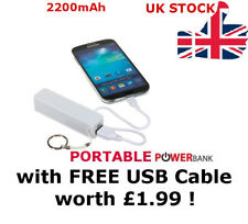 POWER BANK PORTABLE BATTERY CHARGER FOR iPHONE SAMSUNG MOBILE / FREE USB CABLE