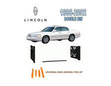 NEW 1998-2002 LINCOLN TOWN CAR STEREO INSTALL DASH KIT, TOOL SET
