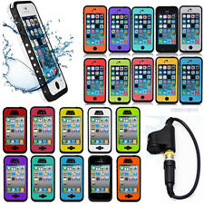 Waterproof Shockproof Fingerprint Scanner Case Cover for Apple Iphone 4 4S 5C 5S