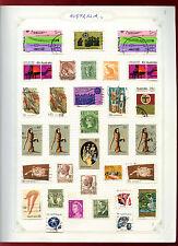 Australia Album Page Of Stamps #V4782
