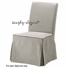 Ikea Gray check Cover for Henriksdal Chair Long Slipcover Sågmyra Sagmyra Gray