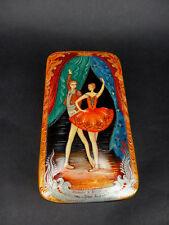 "Russian Lacquer Box ""Kitri and Basili""811 - Kholui hand painted Russian Lacq Box"