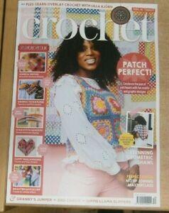 Inside Crochet magazine #134 2021 Patch perfect + geometric shawl, motif joining