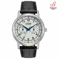New CITIZEN Watches Eco-Drive Leather Belt Mineral Glass AO9000-06B Men's