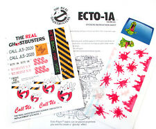 THE REAL GHOSTBUSTERS 'DIE CUT' REPLACEMENT STICKERS for ECTO-1A CAR & SLIME