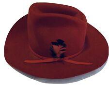 Straw Cowboy Hat Texas Hat Co Crown 5.25 in Brim 4 in. Size 6 3//4