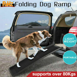 NEW Foldable Dog Ramp for Car Truck SUV Backseat Stair Steps Auto Travel Ladder