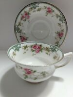 Vintage Aynsley Bone China Rose Vine Cup And Saucer A33715 x