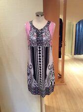 Olsen Kleid Gr. 12 Rosa Schwarz Print Bnwt Rrp £ 89 jetzt £ 30