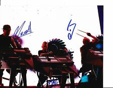 THE GLITCH MOB GROUP SIGNED ON STAGE 8X10