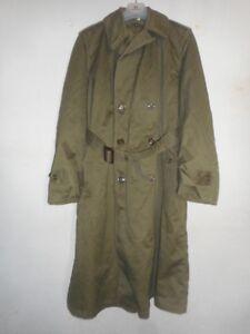 U.S.ARMY*: OD-7-Overcoat-w/ Button-in Wool Liner 1952 Korean SIZE REG.Medium