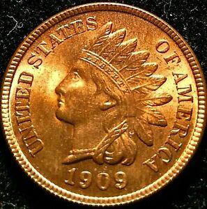 1909 Indian Head Penny Cent UNC BU CHOICE ***GEM***