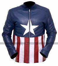 BON JOVI CONCERT AMERICAN BIKER LEATHER JACKET BLUE COWHIDE AMERICAN