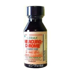MercuroChrome Safe Antiseptic 1 oz. MercurioCromo