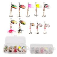 Box 1 Set New Spinners Plugs Fish Pike Trout Fishing Lures Bass Bait Tackle TOP