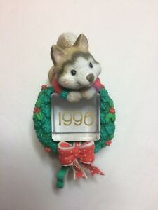 RARE! Carlton Cards Ornament - Ice Pals - Husky Dog -1996