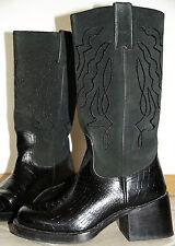Sancho 37.5, cuero genuino Roper botas motorista botas vaqueras botas de vaquero 6cm negro