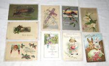 Easter & Christmas Post Cards NINE Vintage & Antique