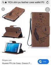 huawei p9 lite case Flip Slim Leather Case With Quote