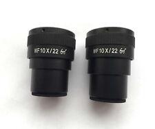 Pair WF10X 22mm Adjustable Stereo Microscope High Eyepoint Eyepiece 30mm Tube