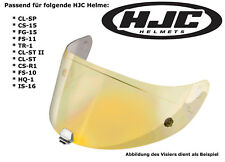 HJC visera hj09 para cascos cl-SP cs-15 fg-15 fs-11 tr-1 cl-St II Gold efecto espejo