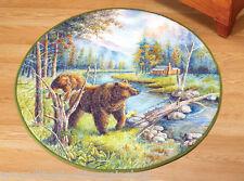 Northwoods Bear Round Accent Floor Rug
