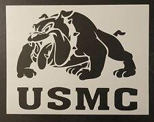 "USMC Marine Corp Bulldog Marines 8.5"" x 11"" Custom Stencil FAST FREE SHIPPING"