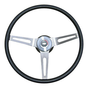 1967 1968 CHEVELLE CAMARO NOVA 3 SPOKE STEERING WHEEL COMPLETE BLACK
