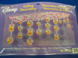 RARE Winnie the Pooh 1st Birthday Girl Pink Party Hanging Ceiling Decoration *