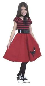 Poodle Dress 50's Sock Hop Red Black Dress Up Halloween Child Costume Accessory