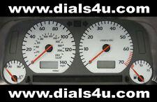 VOLKSWAGEN VW GOLF Mk3 (1991-1999) 120mph / 140mph / 160mph - WHITE DIAL KIT
