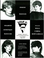 Publicité ancienne Philippe Anta haute coiffure française 1980 issue de magazine