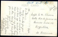 BRITISH SOUTH AFRICA TO ARGENTINA Circulated Postcard 1931 NICE!