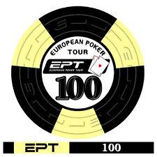 Blister da 25 fiches poker EPT Replica 2007 Ceramica Valore 100 Bordo Allineato