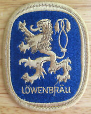 LOWENBRAU small Beer PATCH with LION, Miller Brewing, Milwaukee, WISCONSIN, NICE