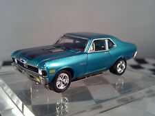 70 CHEVY NOVA SS Blue/Black T JET 500 HO SCALE SLOT CAR Cool-Wheels